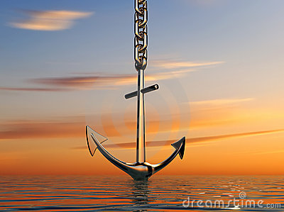 Anchor on sea
