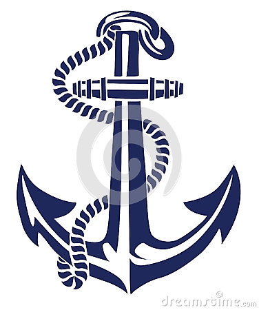 Free Anchor Stencil Vector Royalty Free Stock Photography - 33175127