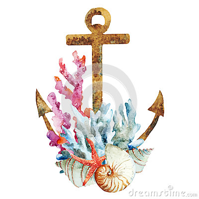 Free Anchor With Corals Royalty Free Stock Photography - 52559317