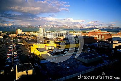 Anchorage, Alaska at 10 PM.
