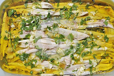 Anchovies in vinegar Andalusian and Spanish cuisine