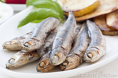 Anchovy with vegetable