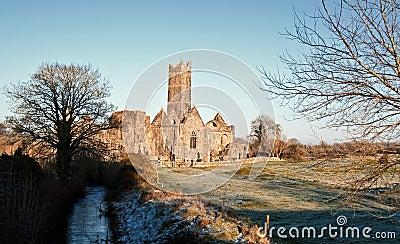 Ancient abbey, tourist attraction, ireland