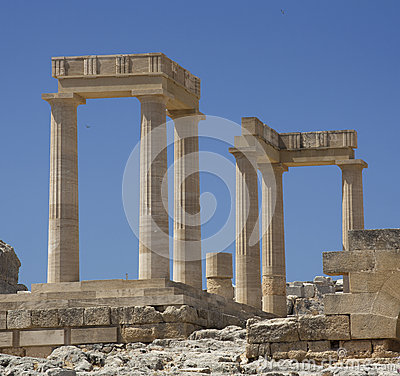 Free Ancient Acropolis In Rhodes. Lindos City. Greece Stock Photography - 33374692
