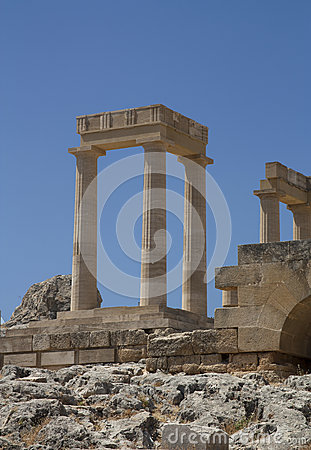 Free Ancient Acropolis In Rhodes. Lindos City. Greece Royalty Free Stock Images - 33374729