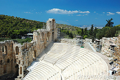 Ancient amphitheater at Acropolis,Athens,Greece