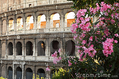 Ancient amphitheater Colosseum in Rome
