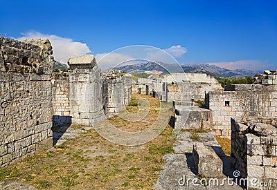 Ancient amphitheater at Split, Croatia