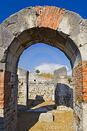 Ancient amphitheater at Split, Croatia
