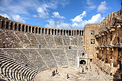 Ancient amphitheatre Editorial Stock Image
