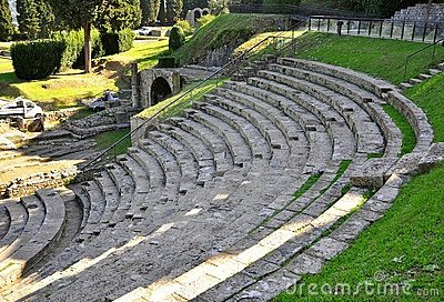 Ancient amphitheatre in Italy