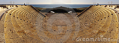 Ancient amphitheatre, mirrored