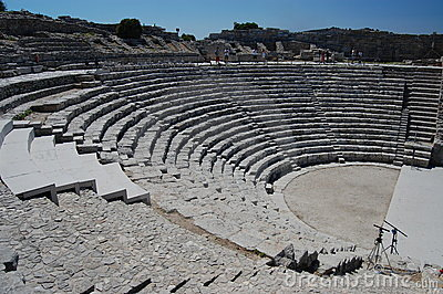 The ancient amphitheatre at Segesta, Sicily
