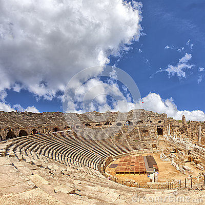 Ancient Amphitheatre in Side Turkey
