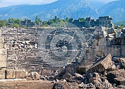 Ancient amphitheatre in Tlos