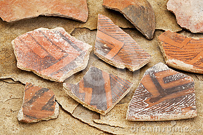 Ancient Anasazi pottery shards