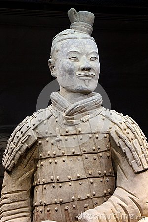 Free Ancient And Proudly Terracotta Warrior (Unesco) In Close Up, Xian, China Stock Photography - 47465692