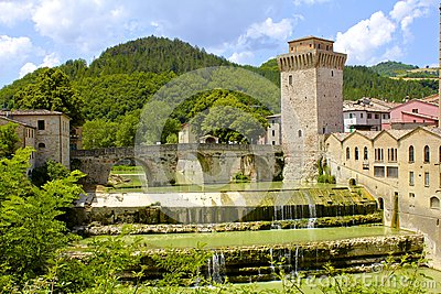 Ancient Arched Bridge and Tower