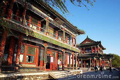 Ancient architecture in beijing of china