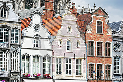 Ancient architecture in the Belgian city