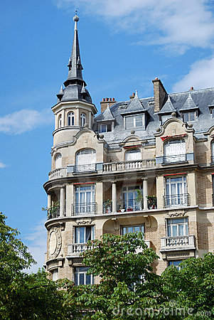 Ancient architecture of Paris.