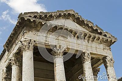 Ancient architecture in Pula, Croatia