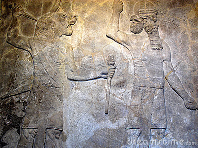 Ancient Assyrian relief