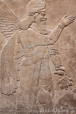 Ancient assyrian winged god