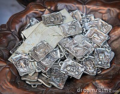 Ancient astrological sign badges