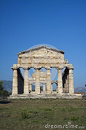 Ancient Athena temple in Paestum.
