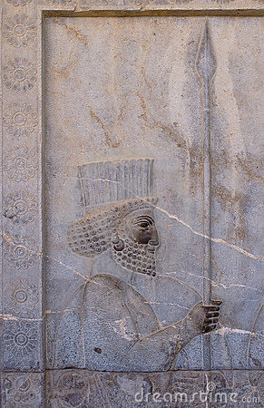 Ancient bas-reliefs of Persepolis