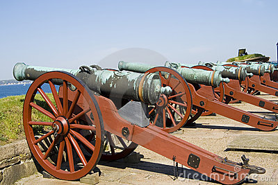 Ancient Battle Cannons Royalty Free Stock Photography - Image: 20782587