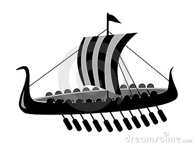 Ancient battle ship