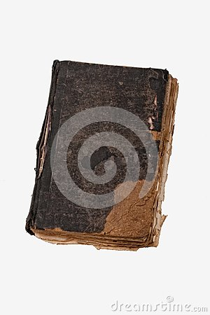 Ancient book on white