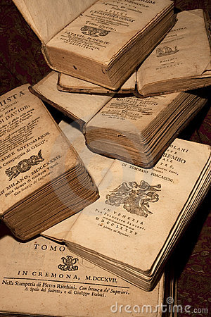 Free Ancient Books Of The 18th Century Stock Photo - 10256350