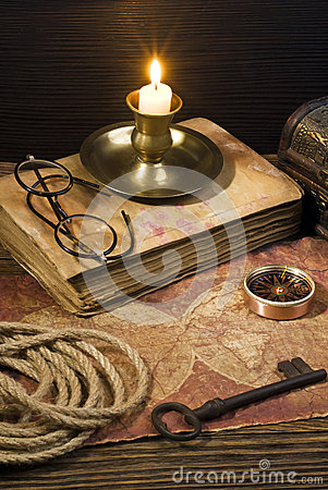 Free Ancient Books On The Old Paper Background Royalty Free Stock Photos - 44095318