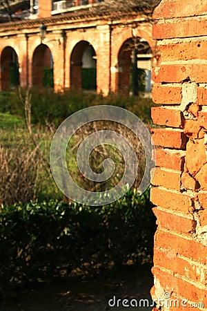 Ancient brick arch
