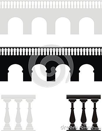 Ancient bridge, balustrade