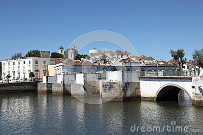 Ancient bridge in Tavira, Portugal