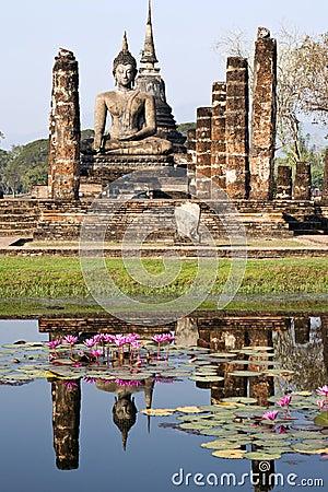 Ancient Buddha Reflecting