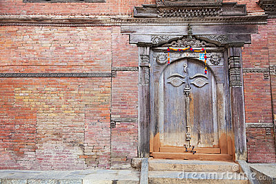 Ancient Buddha s All Seeing Eye Door, Kathmandu,