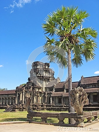 Ancient Buddhist Khmer Temple Royalty Free Stock Photo - Image: 28436445