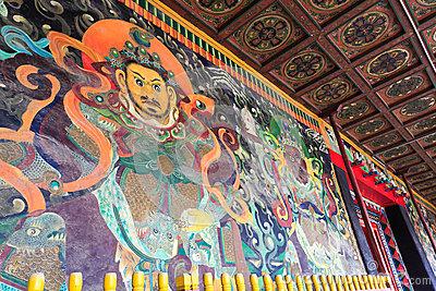 Ancient buddhist mural