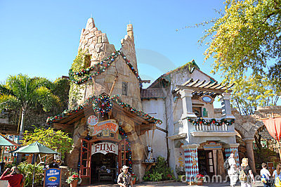 Ancient Building in Universal Orlando Editorial Photo