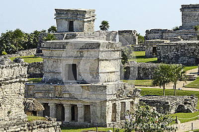 Ancient buildings built by the Mayas Editorial Photo