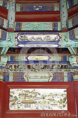 Ancient buildings decoration.