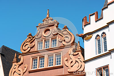 Ancient buildings in the old town of Trier, Germany