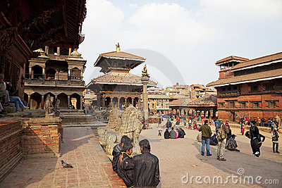 Ancient Buildings, Patan Durbar Square, Nepal Editorial Stock Image