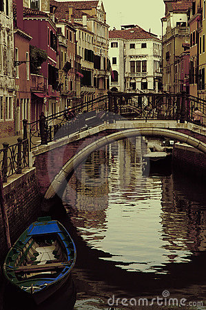 Ancient canal in Venice