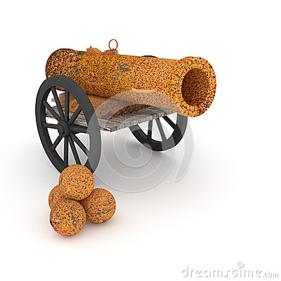 Ancient cannon.